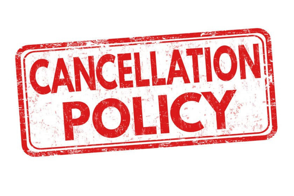 Create and distribute the cancellation policy