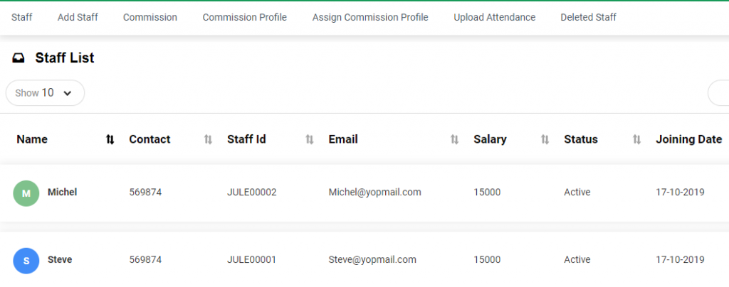 Highlight your Staff profile and sell