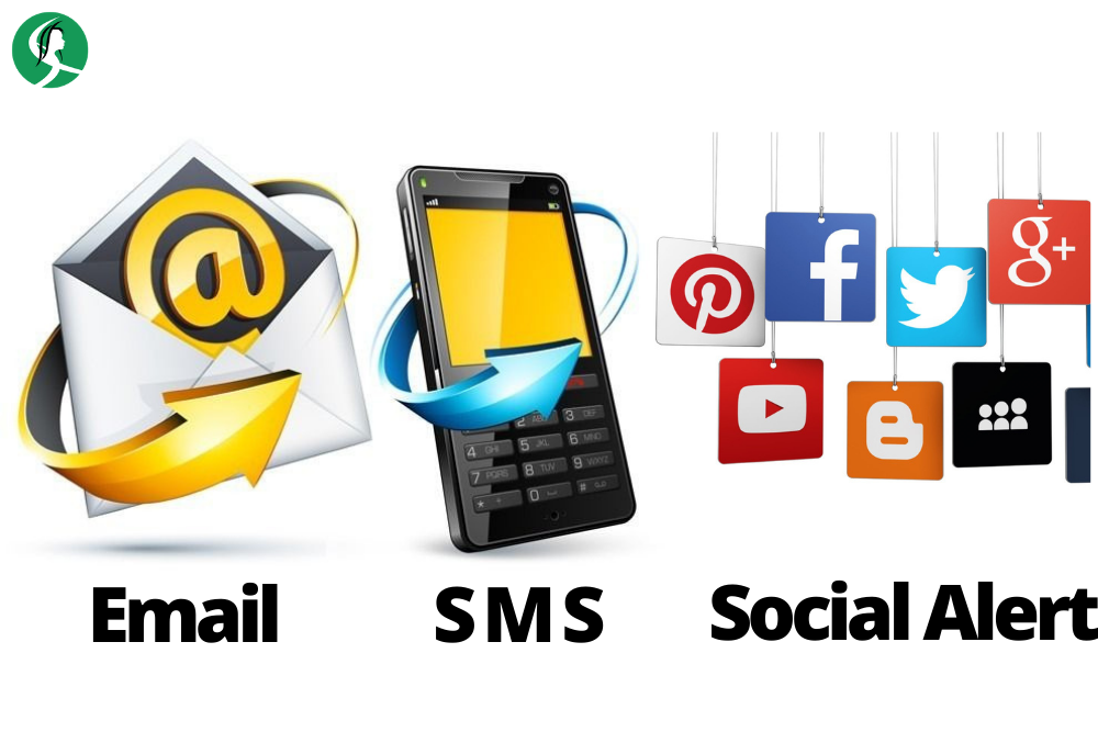 Schedule SMS, email and Social Alerts