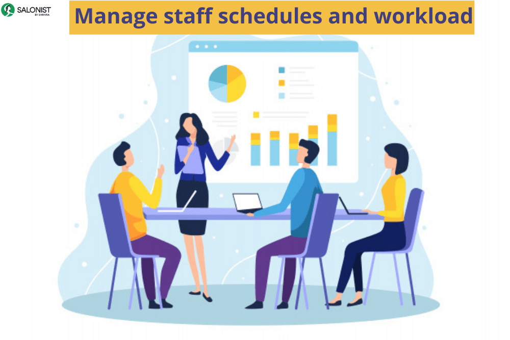Manage staff schedules and workload