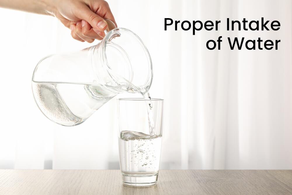 Proper Intake of Water