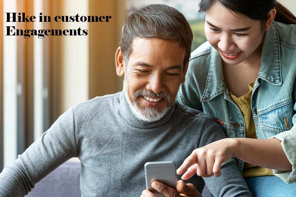 Hike in customer engagements