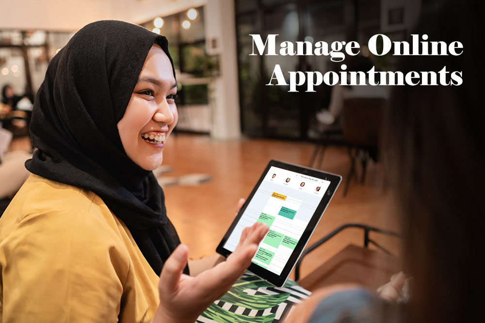 Manage Online appointments