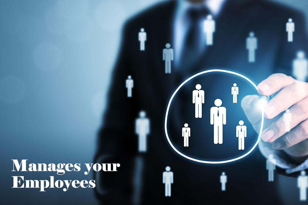 Manages employees