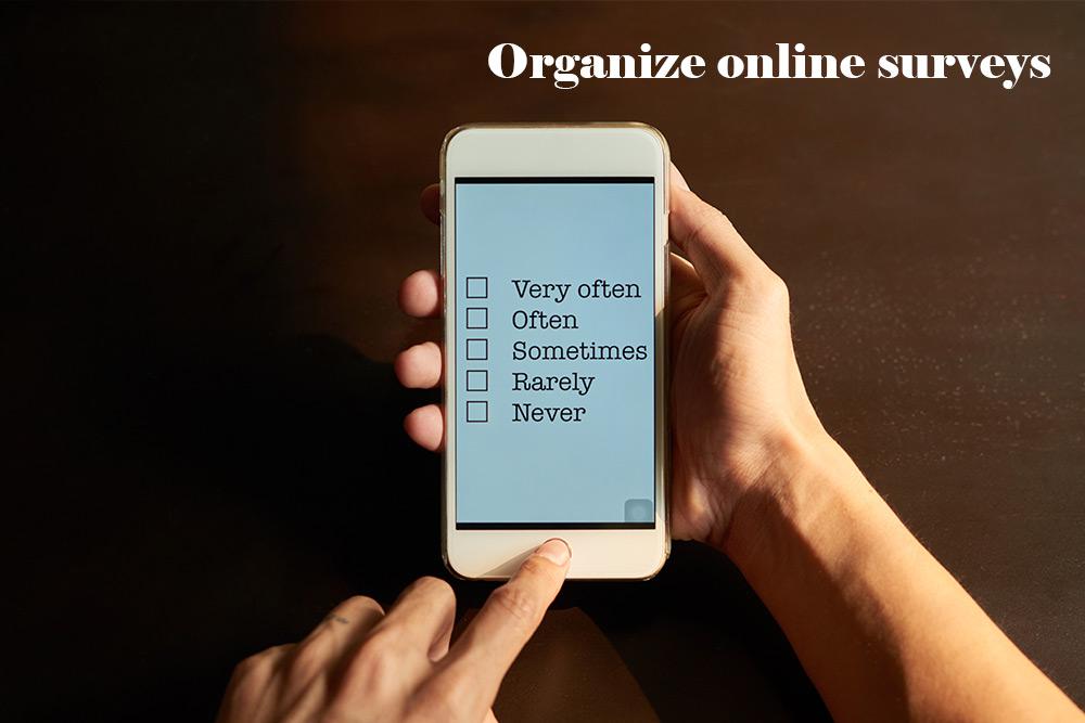 Organize-online-surveys