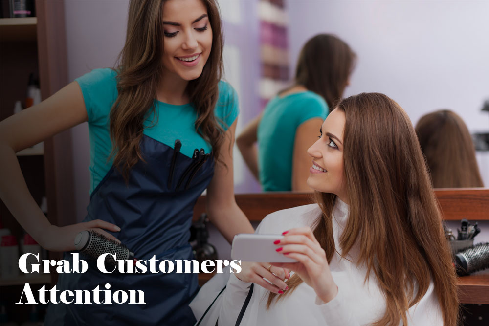 grab customers attention
