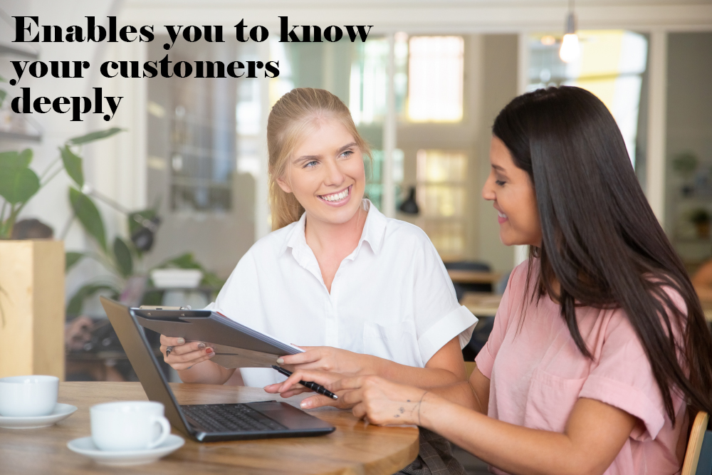 Enables you to know your customers-deeply