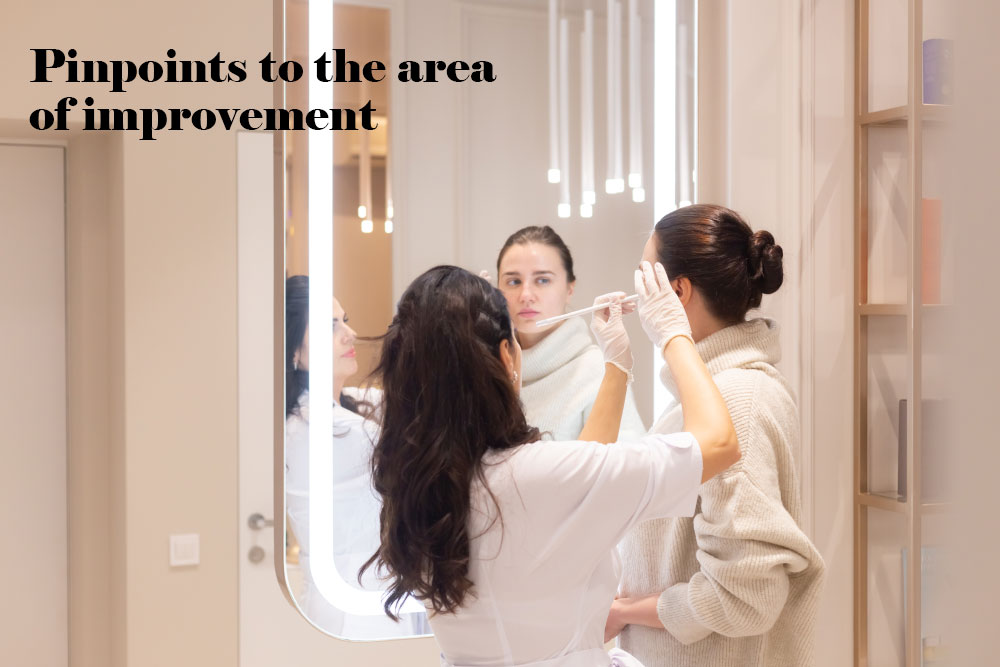 Pinpoints to area of improvement