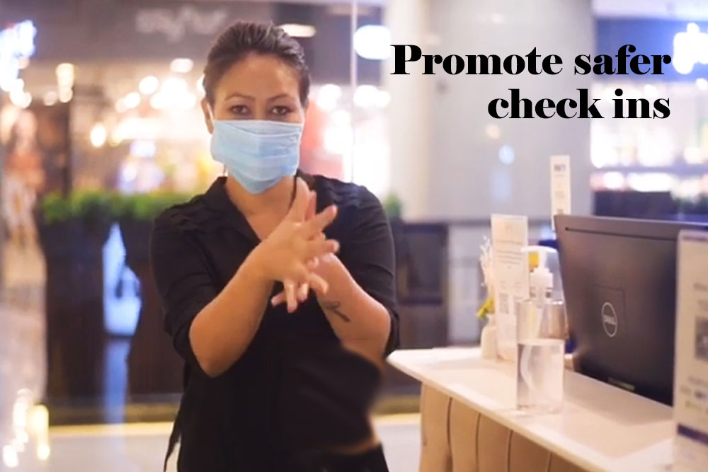 Promote safer check-ins