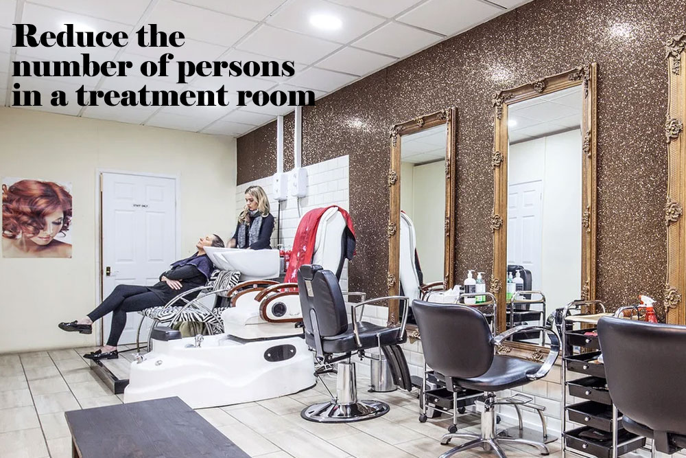 Reduce the number of persons in a treatment room